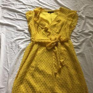 Nanette Lepore flutter sleeve dress with tie waist